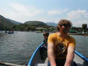 Obelix - I mean Randall - rowing