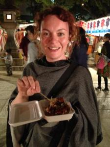 Yummy takoyaki = happy Helen