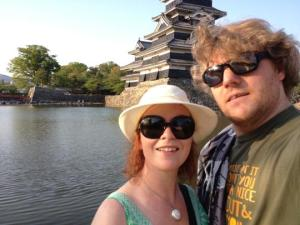 Lovely Helen and Randall at Matsumoto Castle