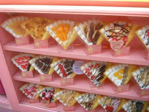 Plastic food outside a crepe stall, Takeshita-dori