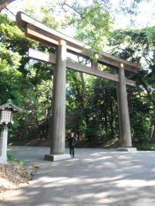 Randall at the entrance to the Meji Shrine park.
