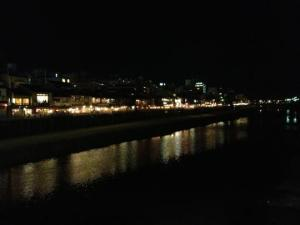 The view across the river from Gion.